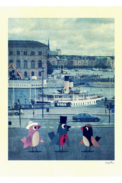 Poster ingela-arrhenius-birds-in-stockholm