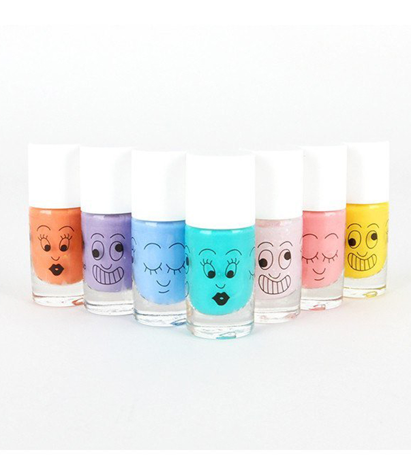 Bunter Kindernagellack von Nailmatic.