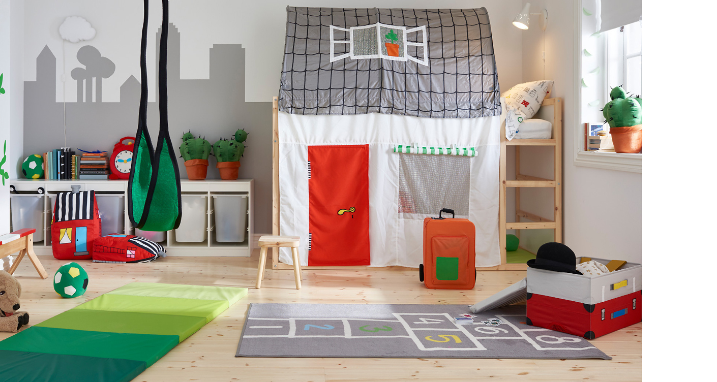 innovative ikea hacks f r 39 s kinderzimmer das kinderbett kura. Black Bedroom Furniture Sets. Home Design Ideas